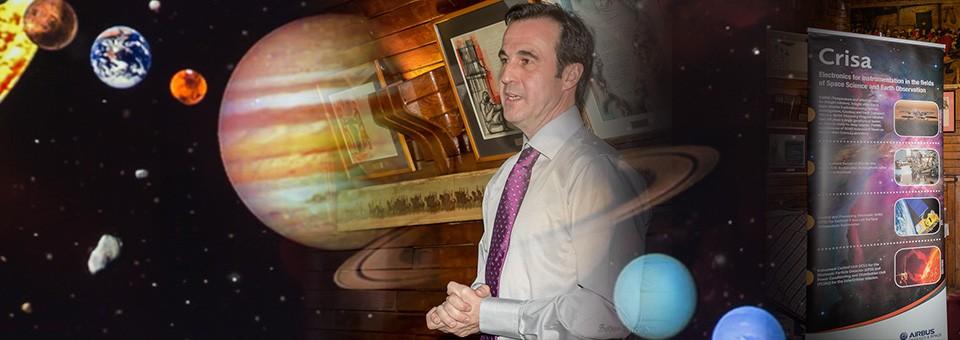 """Acto 126. """"La búsqueda de agua en nuestro sistema solar"""" por Salvador Fernández Alonso"""